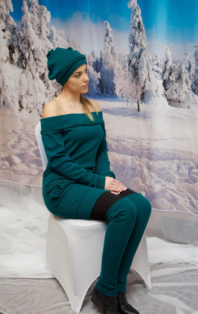 719-Off Sweater dress with pockets